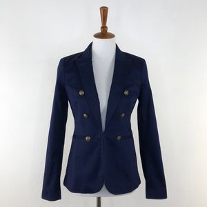 Banana Republic Navy Blue Button Front Blazer